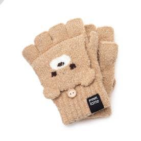 くまちゃんフード手袋 (ライトベージュ)