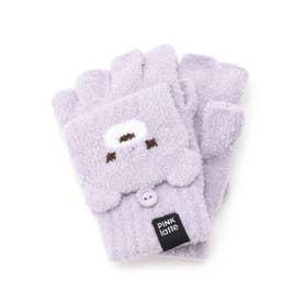 くまちゃんフード手袋 (ライトパープル)