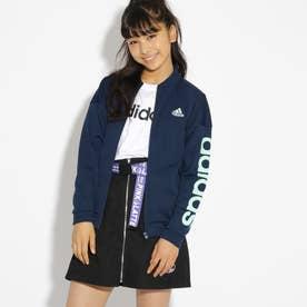 adidas 袖ロゴジャージジャケット (ネイビー)