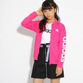 adidas 袖ロゴジャージジャケット (ラズベリーピンク)