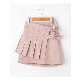 ★ニコラ掲載★プリーツ巻きスカート (ベビーピンク)