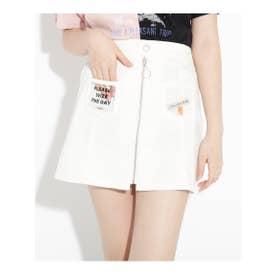 ★ニコラ掲載★クリアポケットシップスカート (オフホワイト)