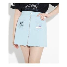 ★ニコラ掲載★クリアポケットシップスカート (サックス)