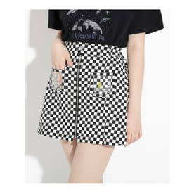★ニコラ掲載★クリアポケットシップスカート (ブラック)