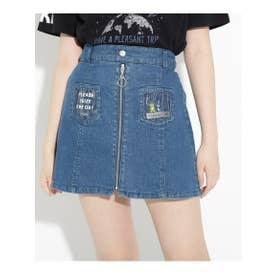 ★ニコラ掲載★クリアポケットシップスカート (ブルー)