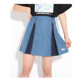 サイドZIP柄スカート (ブルー)