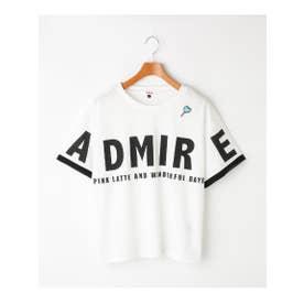袖レイヤードBIGロゴTシャツ (オフホワイト)