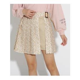 ★ニコラ掲載★ベルト付きラップ風スカート (小花柄)