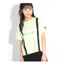 サスペンダー風ネオンロゴTシャツ (ライトグリーン)
