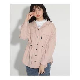 シャーリングシャツ&レースTセット (ピンク(072))