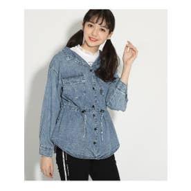 シャーリングシャツ&レースTセット (ケミカル(591))