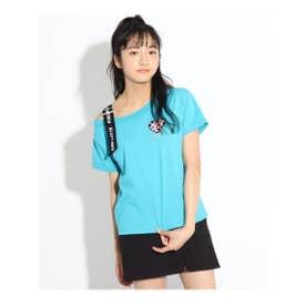 ★ニコラ掲載★肩ロゴワンショルTシャツ (ブルー)