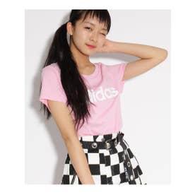 【adidas/アディダス】 ロゴTシャツ (ベビーピンク)