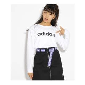 adidas ロゴ長袖Tシャツ (オフホワイト(003))