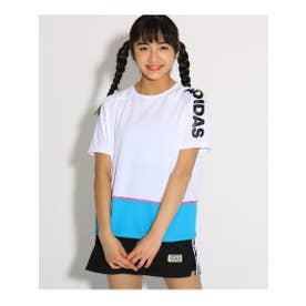 【adidas/アディダス】 カラーブロックTシャツ (オフホワイト(003))