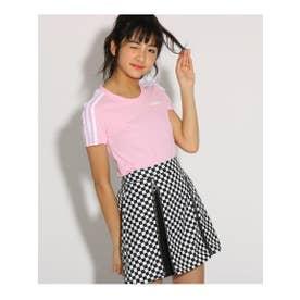 【adidas/アディダス】 3ラインTシャツ (ベビーピンク(071))