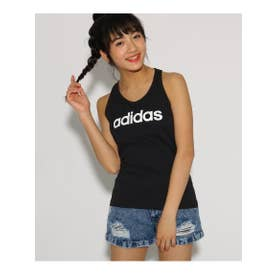 【adidas/アディダス】 ロゴスリムタンクトップ (ブラック(019))