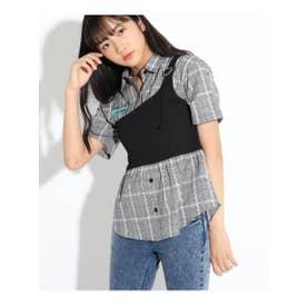 ★ニコラ掲載★ビスチェドッキングシャツ (グレー)