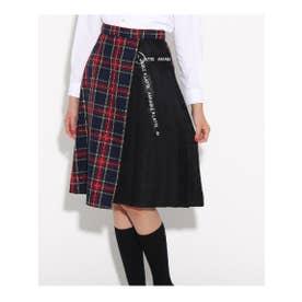 【卒服】リボン付 ラップスカート (ネイビー(293))