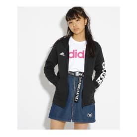 adidas 袖ロゴ裏起毛ZIPパーカー (ブラック(019))