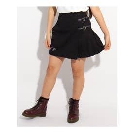 ★ニコラ掲載★ロゴリボンハートチェーンスカート (ブラック)