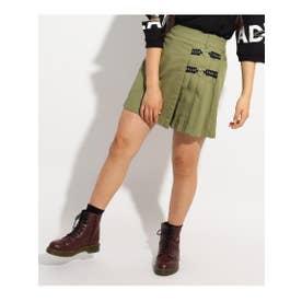 ★ニコラ掲載★ロゴリボンハートチェーンスカート (カーキ)