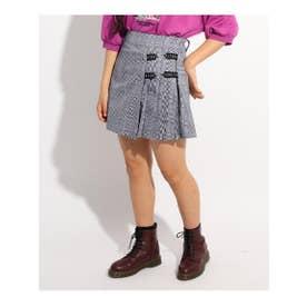 ★ニコラ掲載★ロゴリボンハートチェーンスカート (グレー)