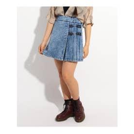 ★ニコラ掲載★ロゴリボンハートチェーンスカート (ライトブルー)