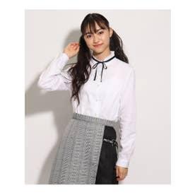 【卒服】ボウタイ付 シャツ (ホワイト)
