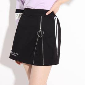 フロントZIP開きスカート (ブラック)