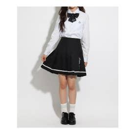 【卒服】リボン付 プリーツスカート (ブラック)