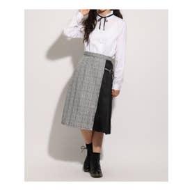 【卒服】リボン付きロングラップスカート (グレー)