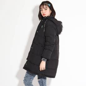 ロング中綿コート (ブラック)