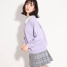 ★ニコラ掲載★ビック襟付トップス (ライトパープル)