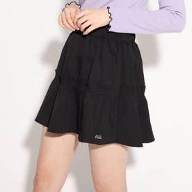 ★ニコラ掲載★ティアードミニスカート (ブラック)
