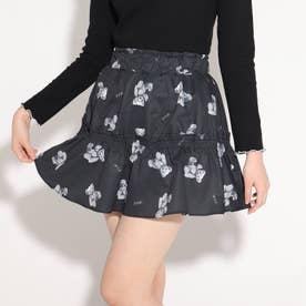 ★ニコラ掲載★ティアードミニスカート (ブラック×クマ)