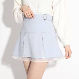 ★ニコラ掲載★裾オーガンジースカート (サックス)