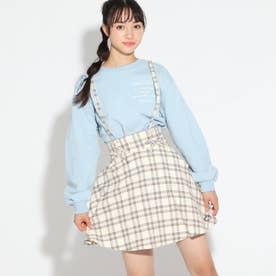 ★ニコラ掲載★細サス付きガーリースカート (アイボリー)