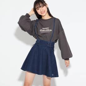 ★ニコラ掲載★細サス付きガーリースカート (ネイビー)