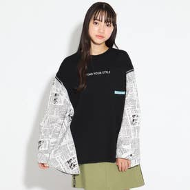 クレイジーシャツパカトップス (ブラック×ホワイト)