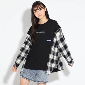 クレイジーシャツパカトップス (ブラック)