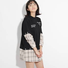 【5WAY】ドッキングチュニックワンピース (ライトベージュ)