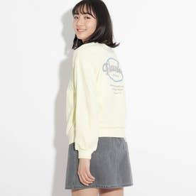 【コットン100%】バックサークルグラフィックトップス (レモンイエロー)