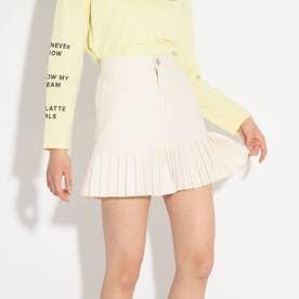 ★ニコラ掲載★裾プリーツスカート (オフホワイト)