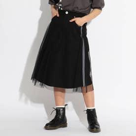 チュールレイヤードスカート (ブラック)