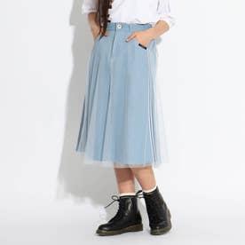 チュールレイヤードスカート (ライトブルー)
