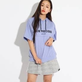 半袖パーカー+ミニスカートセット (ロイヤルパープル)