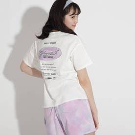バックサークルワッペンコットンTシャツ (オフホワイト)