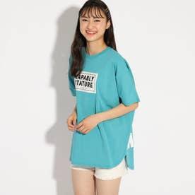 【コットン100%】ドルマンTシャツ (ライトブルー)