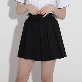 ★ニコラ掲載★サイドバックルプリーツスカート (ブラック)